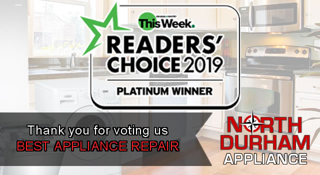2019 Readers Choice Award - Best Appliance Repair Oshawa Whitby This Week